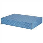 Large French Diamond Patterned Shipping Boxes - 24 Pack