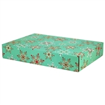 Large Fine Snowflakes Patterned Shipping Boxes - 48 Pack