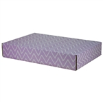 Large Waves Lavande Patterned Shipping Boxes - 6 Pack