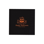 "Personalized Party Luncheon Napkins - 6-3/4"" x 6-3/4"" Black"
