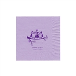 "Wedding Printed Luncheon Napkins - 6-3/4"" x 6-3/4"" Lavender"