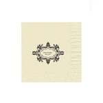 "Wedding Printed Luncheon Napkins - 6-3/4"" x 6-3/4"" Warm White"