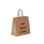 1 Color Hot Stamped Lynx Kraft Paper Shopping Bag