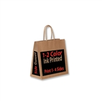 1 & 2 Color Ink Print Kraft Bags - All Over Print