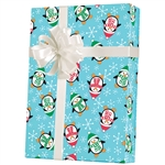 Gift Wrap Roly Poly Penguins Pattern M-5436
