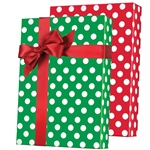 Gift Wrap Reversible Christmas Polka Dots Pattern M-5459