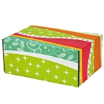 Medium Fiesta Patterned Shipping Boxes - 12 Pack