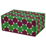 Medium Eco Dots Patterned Shipping Boxes - 6 Pack