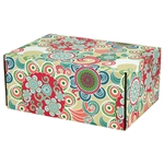 Medium Hipster Patterned Shipping Boxes - 6 Pack