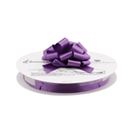 Purple Flora-Satin Perfect Bows on Reels - 3 Sizes