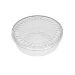 "28 oz. Plastic Food Containers - 7"" Faceted - One Cell Tray - Domed Bottom with Covers - 40 per pack"