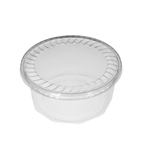 "48 oz. Plastic Food Containers - 7"" Faceted - One Cell Tray - Domed Bottom with Covers - 40 per pack"