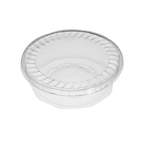"28 oz. Plastic Food Containers - 7"" One Cell Domed Bottom with Covers - 40 per pack"