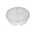 "32 oz. Plastic Food Containers - 7"" - 2 Cell Tray with Covers - 40 per pack"