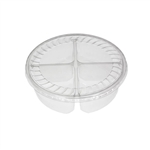 "32 oz. Plastic Food Containers - 7"" - 4 Cell Tray with Covers - 40 per pack"