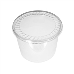 "72 oz. Plastic Food Containers - 7"" One Cell Tray with Covers - 40 per pack"
