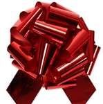 "12"" Red Glitter pull bows"