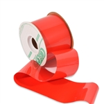 Plastic Shine Red Wide Outdoor Ribbon
