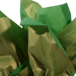 Gold Metallic Dark Green tissue paper