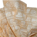 Cafe au Lait-Coffee Printed Tissue Paper