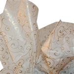 Gold Ivy Swirll Printed Tissue Paper