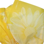 Big Flower Yellow Printed Tissue Paper