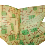 Random Square Green Printed Tissue Paper