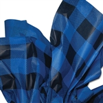 Blue Lumberjack Plaid Printed Tissue Paper