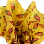 Chilli Pepper Patterned Tissue Paper