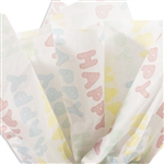 Happy Happy Patterned Tissue Paper