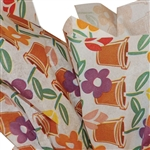 Flower Pots Patterned Tissue Paper