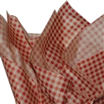 Red & Kraft Gingham Tissue Paper