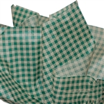 Green & Kraft Gingham Tissue Paper
