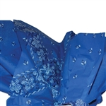 Blue Bandanna Patterned Tissue Paper