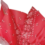 Red Bandanna Patterned Tissue Paper