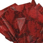 Diamondback Red Patterned Tissue Paper