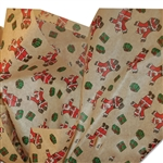 Christmas Sliding Santas Patterned Tissue Paper
