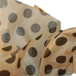 Black Dots on Kraft Patterned Tissue Paper
