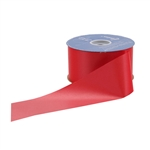 Lava Red Flora-Satin Ribbon - 2 widths