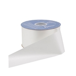 White Flora-Satin Ribbon - 2 Widths