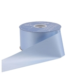 Light Blue Flora-Satin Ribbon - 2 Widths