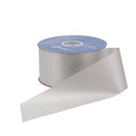 Silver Flora-Satin Ribbon - 2 widths