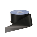 Black Flora-Satin Ribbon  - 2 widths