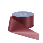 Burgundy Flora-Satin Ribbon - 2 widths