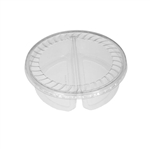 "BULK 32 oz. Plastic Food Containers - 7"" - 2 Cell Tubs Only - Covers Sold Separately 360 Tubs/Pack"