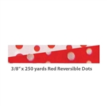 Splendorette Curling Ribbon - Red Reversible Dots