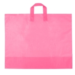 Large Hot Pink Frosted Soft Loop Ameritote Bags