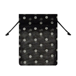 Small Polka Dot Organza Bags Black/White