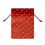 Small Polka Dot Organza Bags Red/White