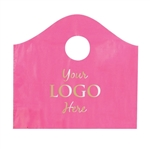 Custom Hot Stamped Plastic Bags - Super Wave Sizzling Pink